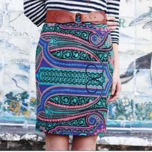 Anthro Plenty by Tracy Reese paisley pencil skirt